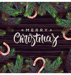 Merry christmas greeting card with decor vector