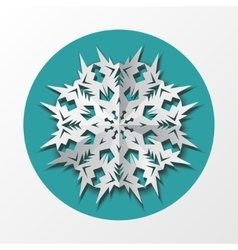 Paper snowflake origami icon christmas new year vector