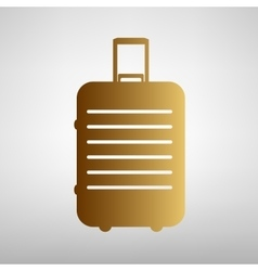 Baggage sign flat style icon vector