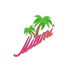 Palm trees miami icon isometric 3d style vector