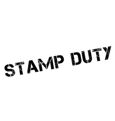 Stamp duty black rubber stamp on white vector