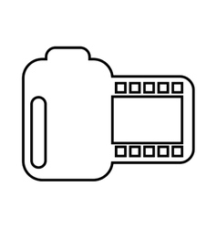 Roll photographic isolated icon design vector