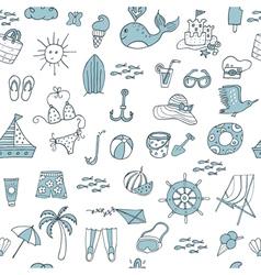 summer pattern vector image