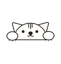 Kitty head vector