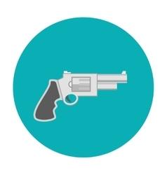 Revolver pistol icon flat vector