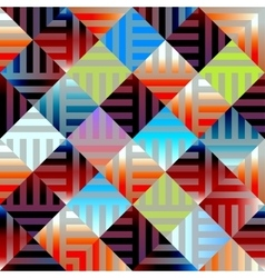 Abstract plaid geometric background vector