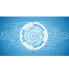 abstract technology on blue background vector image vector image