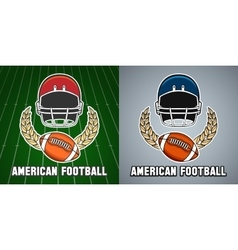 American football league college emblem vector image