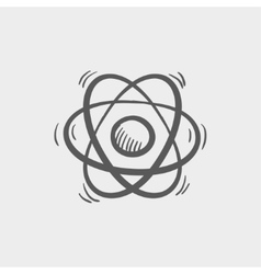 Atom sketch icon vector