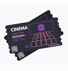 Cinema movie tickets vector