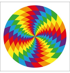 Circle of abstract psychedelic rainbow vector