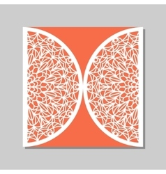 Envelope template with mandala lace ornament vector