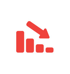 flat design style concept of sales bar chart vector image vector image