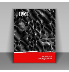 flyer brochure vector image vector image