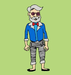 Hipster fashion character people in vector image vector image