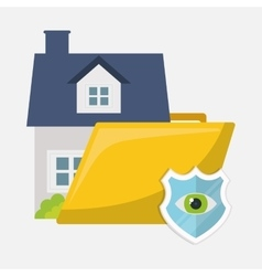 Home security policy insurance vector