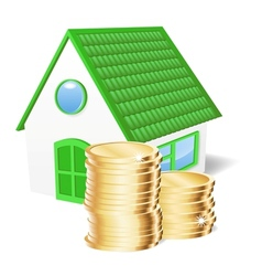 House with coins vector image vector image