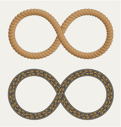 Infinity symbol in the form rope and roads vector