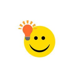 Isolated light bulb idea flat icon have an good vector