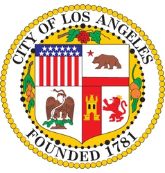 Los Angeles Seal vector image vector image