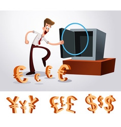 Luring money vector