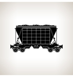 Silhouette hopper car on a light background vector