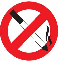 symbol no smoking vector image