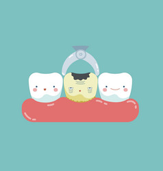 To take decayed tooth out teeth and tooth concept vector