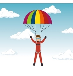 Extreme sports skydiving design isolated vector