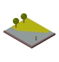 Isometric land section vector