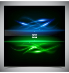 Color abstract glowing background vector image