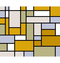 Mondrian goes retro print vector