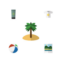 flat beach set of clothes reminders sphere and vector image