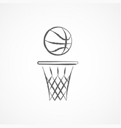 basketball doodle icon vector image