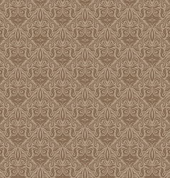 Seamless Floral Damask Wallpaper vector image