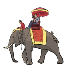 Elephant ride vector