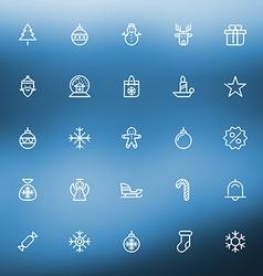 Thin line Christmas icons set for web and mobile vector image