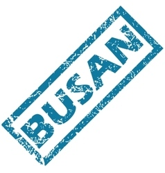 Busan rubber stamp vector
