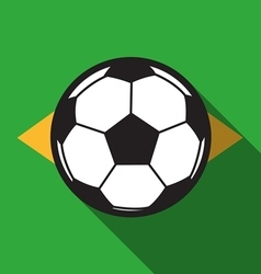 Football icon with brazil flag background vector