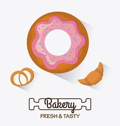 Bakery dessert and milk bar design vector