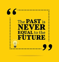 Inspirational motivational quote The past is never vector image