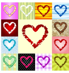 Rough heart pattern vector
