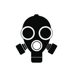 Gas mask black simple icon vector