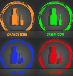 Nail polish bottle icon fashionable modern style vector
