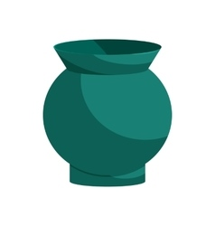 Turquoise vase icon cartoon style vector