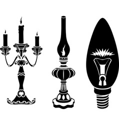 Progress of lighting devices vector