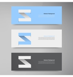 Banner design template label arrow vector