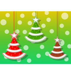 Christmas holidays three icons vector image vector image