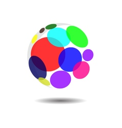 Circular bubble logo concept vector