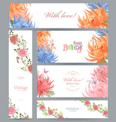 colorful collection of greeting cards with vector image